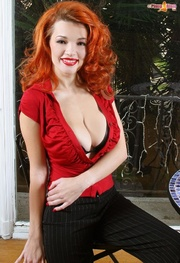 seductress with provocative red