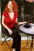 Seductress with fiery red hair needs someone to play with her perky huge