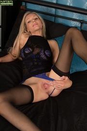 seductive mature blonde purple