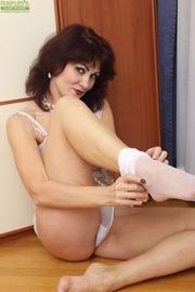 mature milf white lingerie