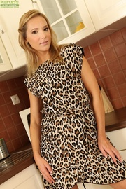 sophisticated mature housewife leopard