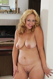 busty blonde cougar black