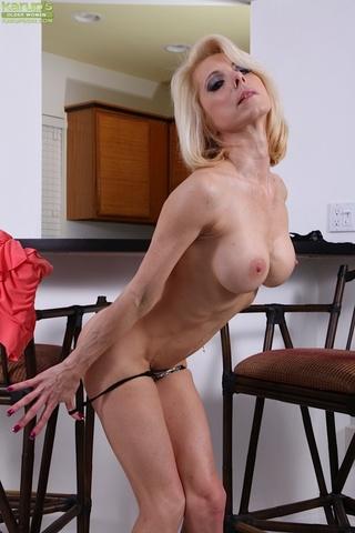 naughty blonde cougar black