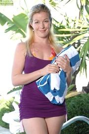 blonde fit swimmer milf