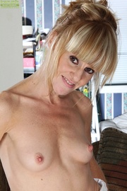 slim blonde cougar white