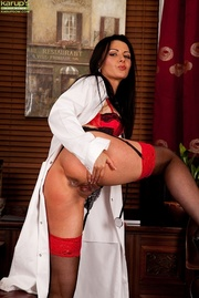 milf doctor strips her