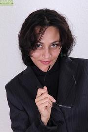 brunette milf secretary strips