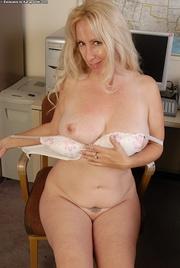 curvy blonde secretary white