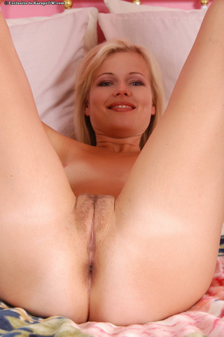 pretty blonde milf lies