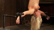 cute blonde hung upside
