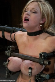while she's strapped sybian