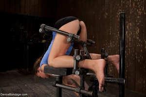 Master bends a girl in bondage equipment - XXX Dessert - Picture 2