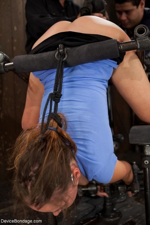 Master bends a girl in bondage equipment - XXX Dessert - Picture 5