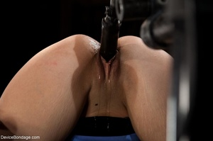 Master bends a girl in bondage equipment - XXX Dessert - Picture 7