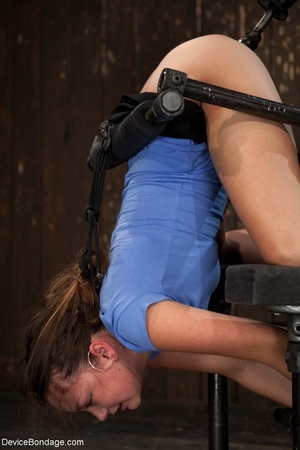 Master bends a girl in bondage equipment - XXX Dessert - Picture 8