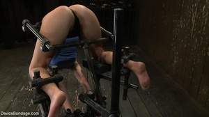 Master bends a girl in bondage equipment - XXX Dessert - Picture 12