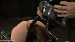 Master bends a girl in bondage equipment - XXX Dessert - Picture 14