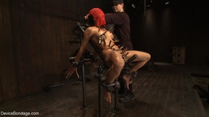 Clothespins placed on her body sting goi - XXX Dessert - Picture 10