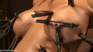 Clothespins placed on her body sting goi - XXX Dessert - Picture 12