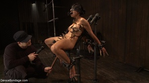 Clothespins placed on her body sting goi - XXX Dessert - Picture 13