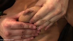 Clothespins placed on her body sting goi - XXX Dessert - Picture 18