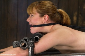 Red-lipped Mistress shoves fingers and an ass plug into a sub's mouth, then carelessly sets her on a Sybian. - XXXonXXX - Pic 9