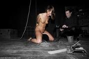 burlap blindfold robs slave