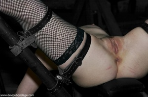 Black fishnets look mighty fine on this female with wild and sexy urges when it comes to her sex life. - XXXonXXX - Pic 12