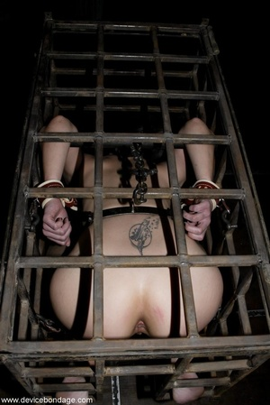 Things are definitely worse for a dark-haired slave once she is let out of her small cage. - XXXonXXX - Pic 15