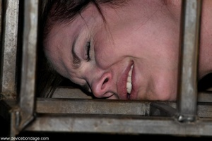 Things are definitely worse for a dark-haired slave once she is let out of her small cage. - XXXonXXX - Pic 16