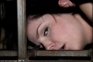 Things are definitely worse for a dark-haired slave once she is let out of her small cage. - XXXonXXX - Pic 17