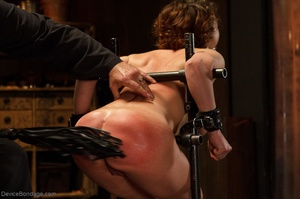 Masked Master flogs a filly's ass with all of his might as she winces from the intense pain. - XXXonXXX - Pic 6