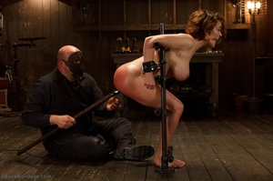 Masked Master flogs a filly's ass with all of his might as she winces from the intense pain. - XXXonXXX - Pic 7