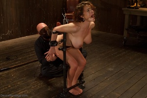Masked Master flogs a filly's ass with all of his might as she winces from the intense pain. - XXXonXXX - Pic 8