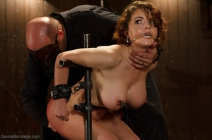 Masked Master flogs a filly's ass with all of his might as she winces from the intense pain. - XXXonXXX - Pic 9