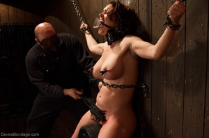 Masked Master flogs a filly's ass with all of his might as she winces from the intense pain. - XXXonXXX - Pic 13