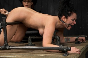 All-natural woman is bound in the most uncomfortable position as she takes the mistreatment well. - XXXonXXX - Pic 15