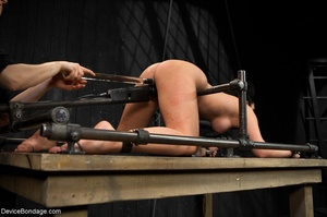 All-natural woman is bound in the most uncomfortable position as she takes the mistreatment well. - XXXonXXX - Pic 16