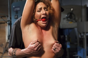 Foxy girl in heels does not stop her BDSM session, even though her face expresses how painful it is. - XXXonXXX - Pic 7