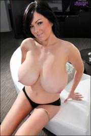 dark haired gal showing