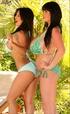 These sexy bikini girls surely love to show their boobs
