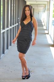stunning brunette model loves