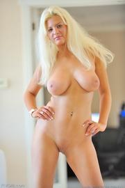 chubby blonde model blue