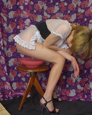 young french maid enjoys
