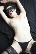 couch, individual model, mask, nylon