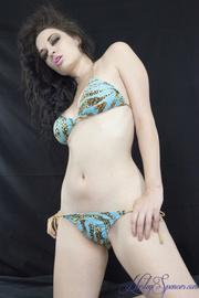 hottie teal leopard bikini