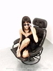 brunette black lingerie has