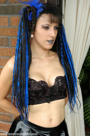 gothic beauty with blue