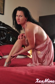 voluptuous mature woman silk