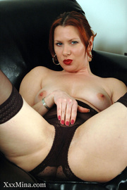 ginger seductress sheer stockings